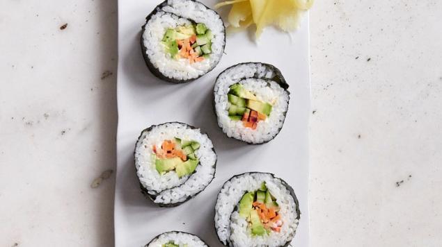 Sushi - Vegan - GF- 3 Pieces / GF Soy / Wasabi