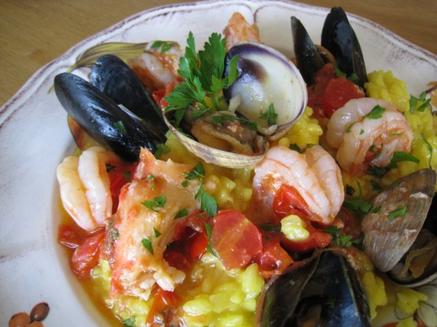Seafood Risotto / Lobster broth / Prawns / Scallops / Mussels