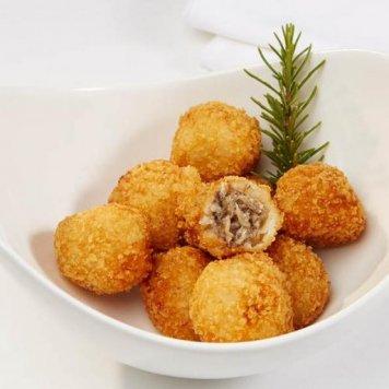 Arancini ~ Mushroom & Parmesan - Truffle Mayonnaise (Gluten Free / Vegetarian)