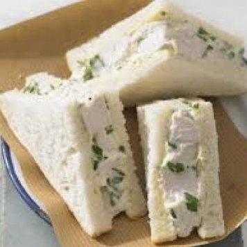 Chicken Sandwich ~ Chopped Breast Chicken / Italian Parsley / House Mayonnaise / White Bread