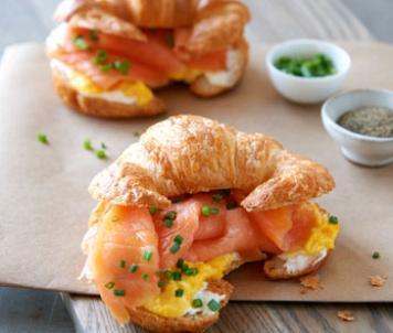 Smoked Salmon & Egg Croissant