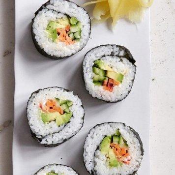 Sushi Platter ~ Assorted Nori ~ Such As ~ Salmon / Tuna / Teriyaki Chicken / California / Tempura Prawn / Tofu / Egg / Cucumber / Avocado