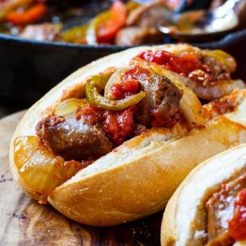 Chipolata Sausage Mini Roll / Caramelised Onion / Tomato Relish