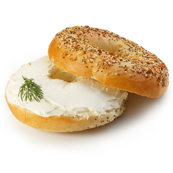 Bagel / Cream Cheese / Fresh Herbs