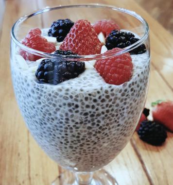 Chia Fruit Pudding
