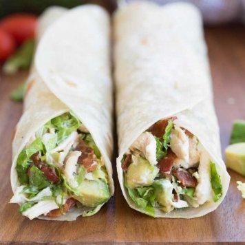 Chicken Schnitzel Wrap ~ Lettuce / Shaved Parmesan / Caesar Dressing